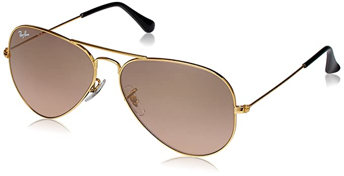 f85a4ab8b017af Ray-Ban Aviator Sunglasses (Golden) (RB3025 001 3E 58)  Amazon.in ...