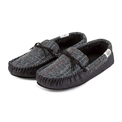 01900c288394 Totes Mens Harris Tweed Moccasin Slipper  Amazon.co.uk  Shoes   Bags