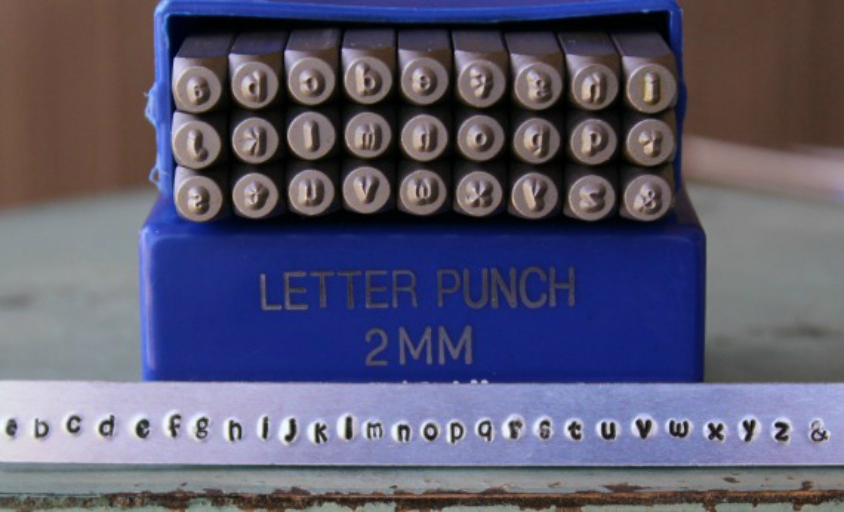 2mm Kristen Font Metal Stamp Alphabet Letter Set, Available in Uppercase, Lowercase or Combination Set (Lowercase (MD-11L))