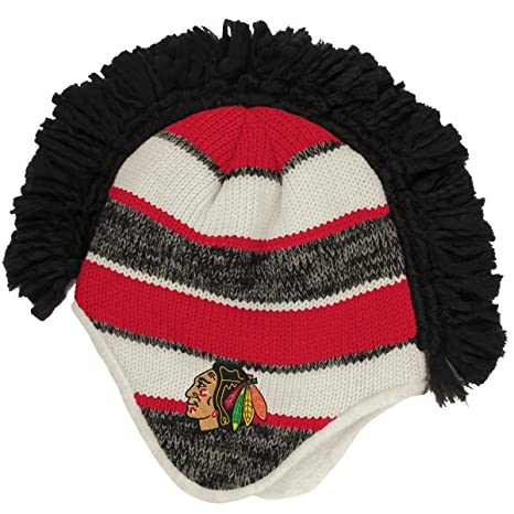 8eb580f9bff Image Unavailable. Image not available for. Color  Chicago Blackhawks Mohawk  Knit Fashion Color Reebok Adult Winter Hat
