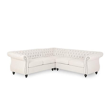 Amazon.com: Rebecca 5 Seater Fabric Tufted Chesterfield ...