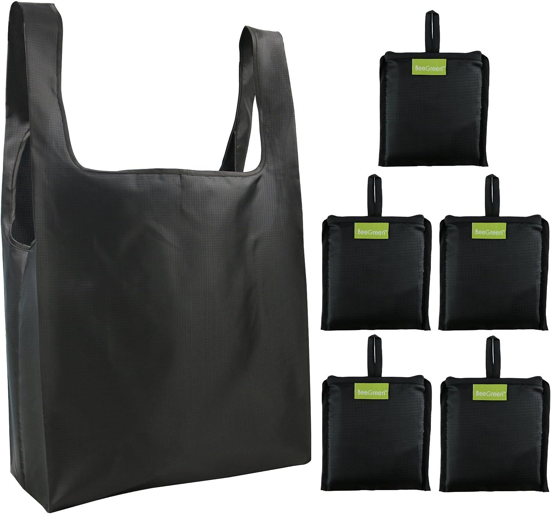 Sac Shopping Pliable Sac pour Courses 3pcs Brown Lavable Luxja Sac Courses reutilisable l/éger Durable ECO Sac