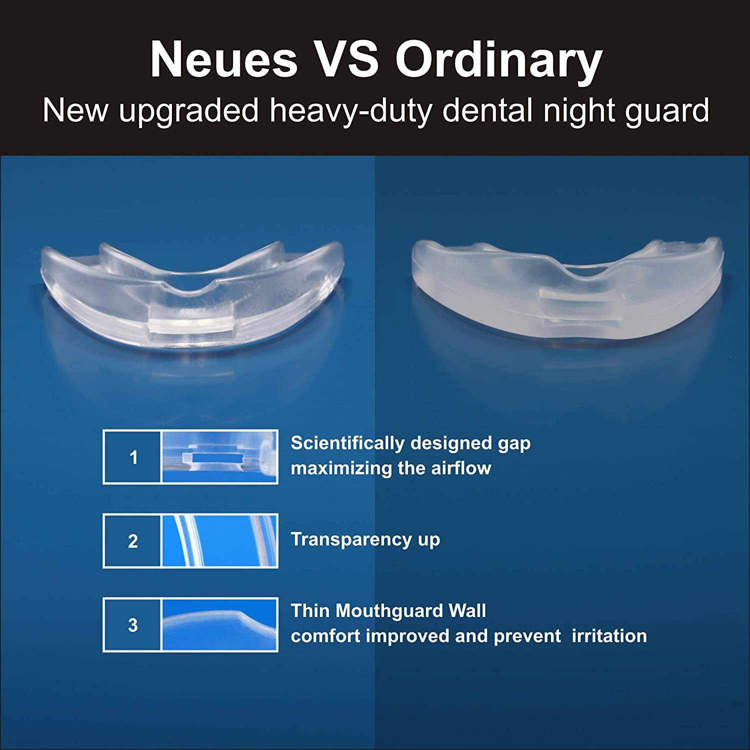 Mouth Guard for Teeth Grinding Clenching Bruxism-6 BPA FREE New Upgraded FOUR UNCLES Anti Dental Night Guard for sleep Moldable, Including 4 Regular and 2 Heavy Duty Guard & Travel Retainer Case : Beauty