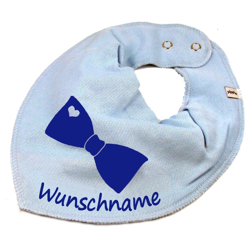 HALSTUCH FLIEGE mit Namen oder Text personalisiert khaki f/ür Baby oder Kind