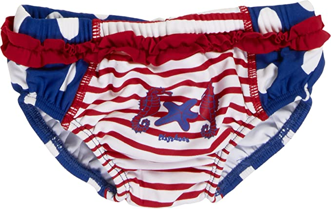 dad287d7 Playshoes Baby-Girls UV Sun Protection Diaper Seahorse Swim Nappy, Blue  (Blue/