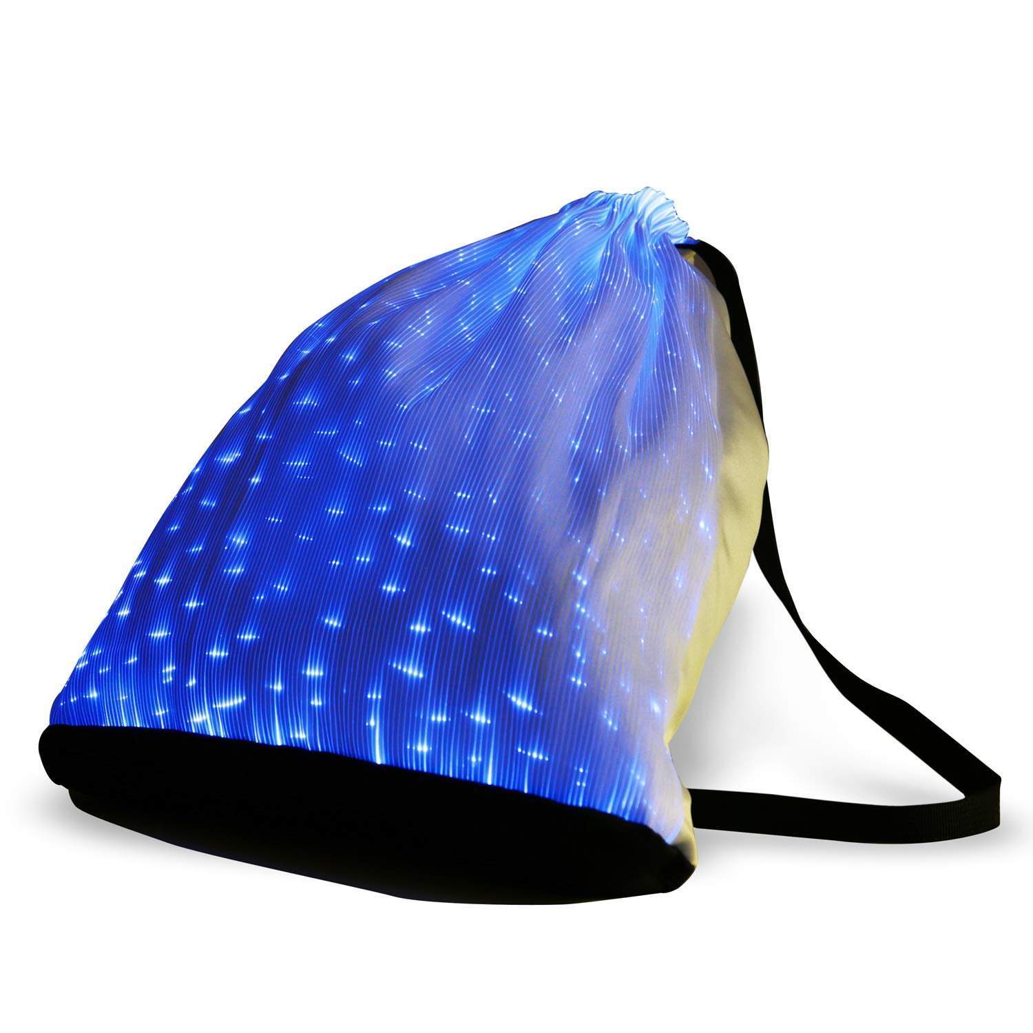 6 Color Glowing LED Light up Backpack USB Rechargeable Luminous Drawstring Bag for Christmas Festival Party Rave Shows