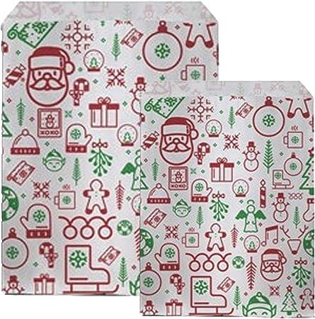 "Silver Snowflake Paper Christmas Counter Bags 7/"" x 9/"" 18cm x 23cm"