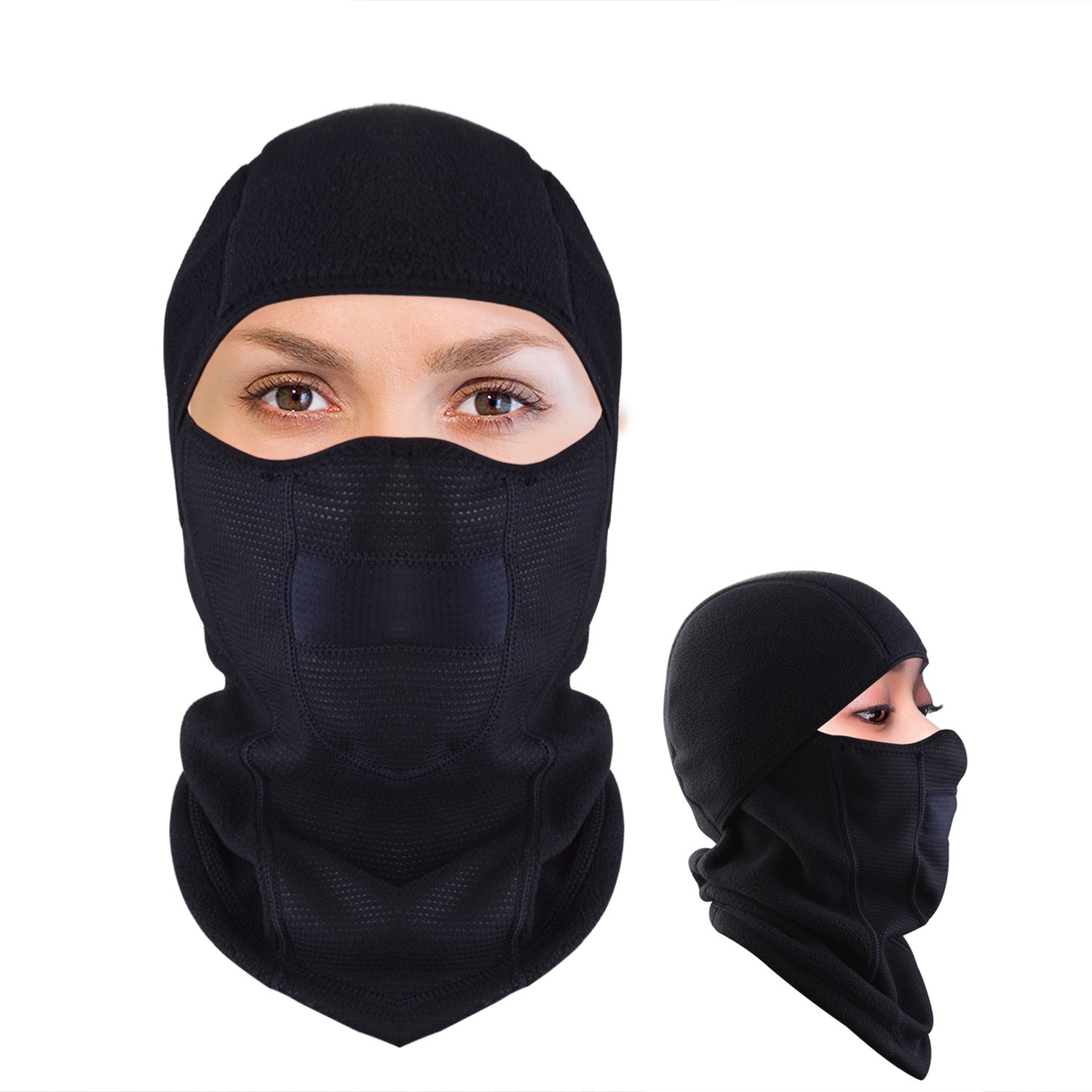 JMFONE Balaclava Ski Mask Windproof Full Face Mask and Neck Warmer Cold Weather Winter Motorcycle Running Tactical Balaclava Hood Polyester Fleece for Women Men Youth jmfone00011