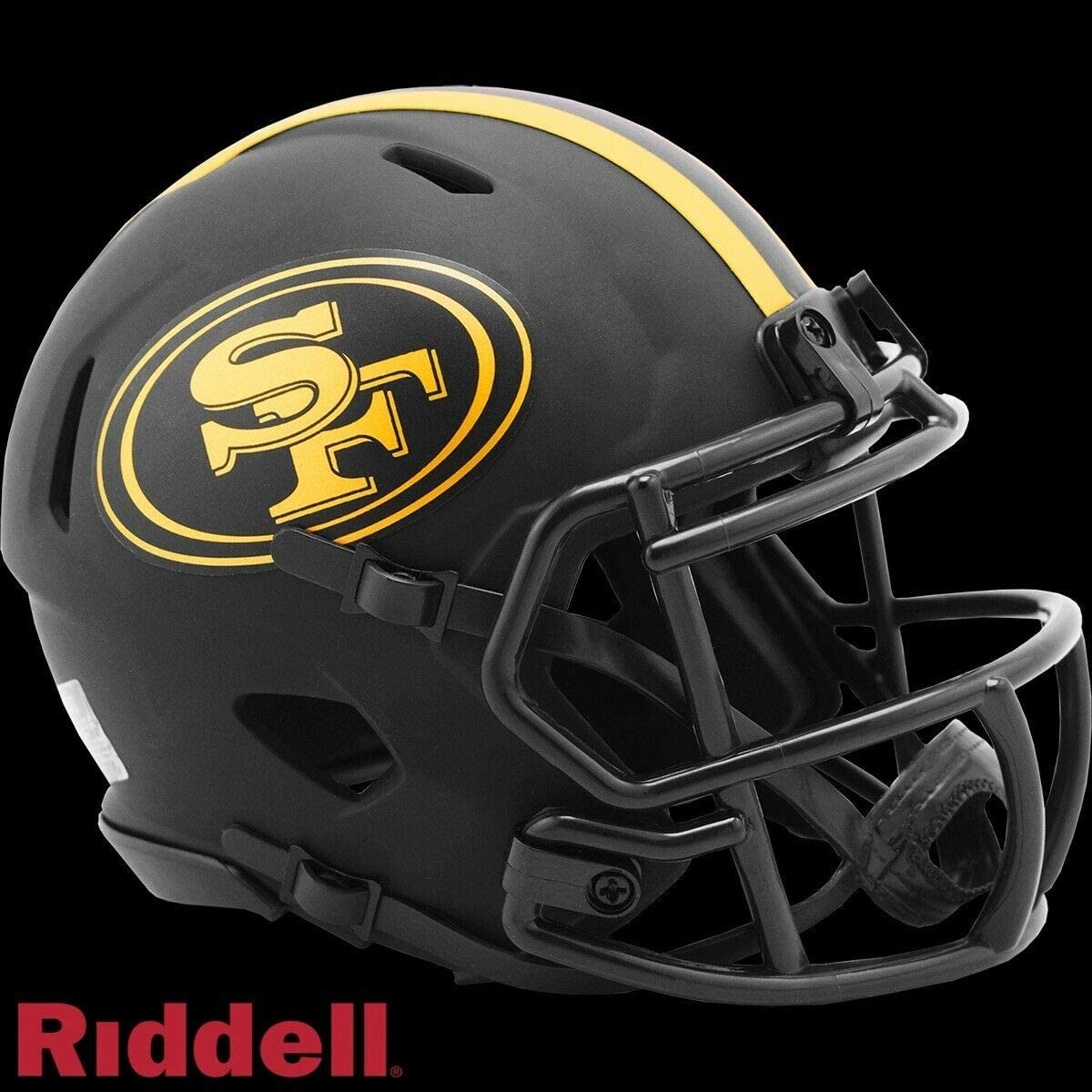 Amazon Com New San Francisco 49ers Official Riddell Black Eclipse Alternate Speed Mini Football Helmet 2020 Sports Collectibles