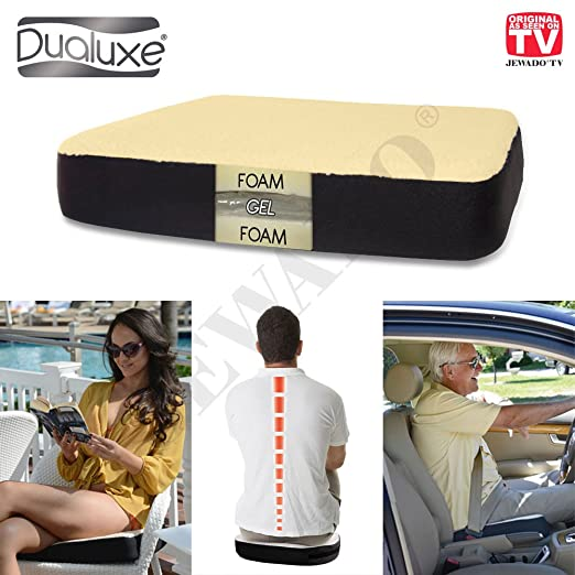 Dualuxe - Cojín Asiento® Gel para un Mayor Confort ...