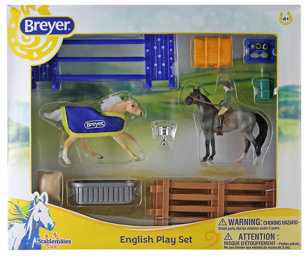 Breyer Stablemates English Horse Play Set