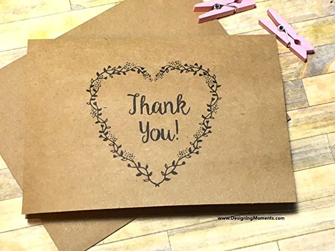 Amazon Com Rustic Thank You Card Set Wedding Thank You Stationery