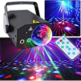 Party Lights, Disco Ball Lights TONGK Dj Disco Lights, LED Stage Light Projector Strobe Lights Sound Activated with Remote Co