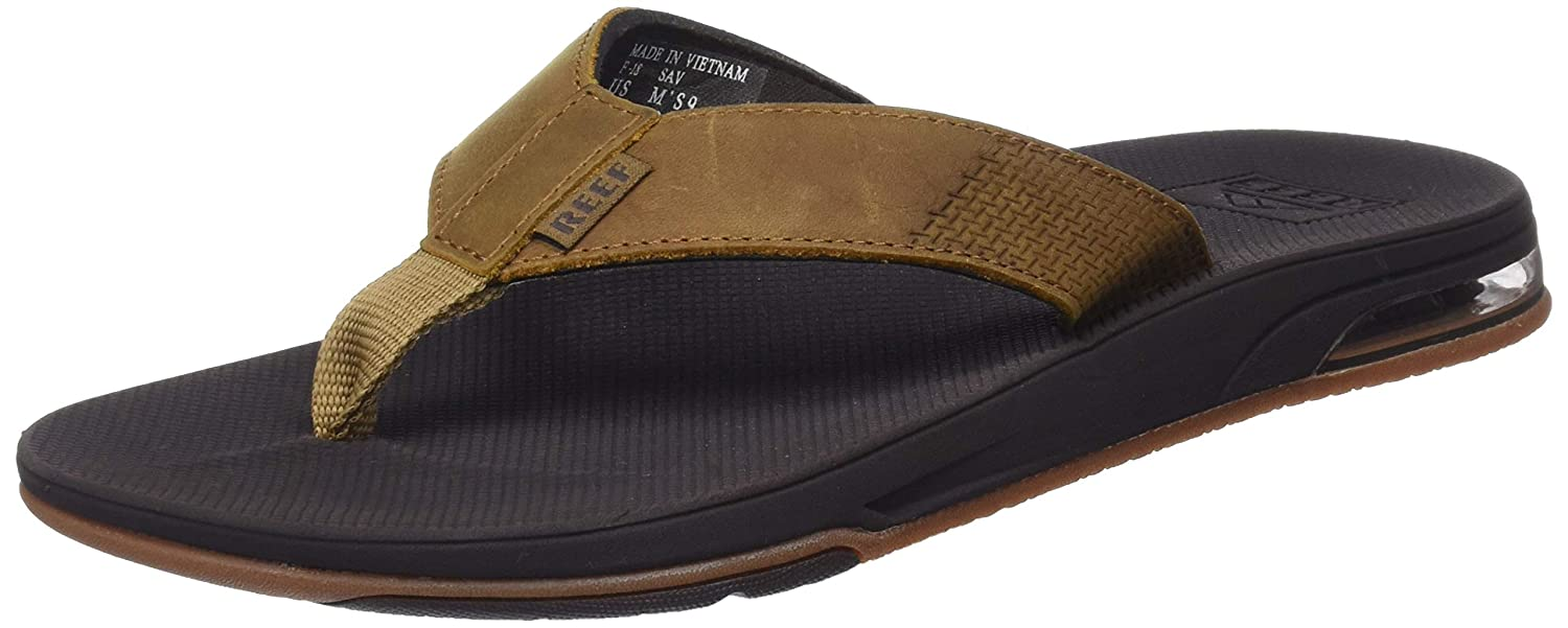 TALLA 39 EU. Reef Leather Fanning Low, Chanclas para Hombre