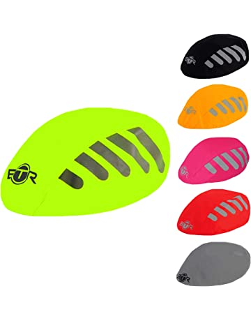 BTR High Visibility Universal Size Bike Bicycle Waterproof Helmet Cover  with Reflective Stripes - One 881f8f6d0