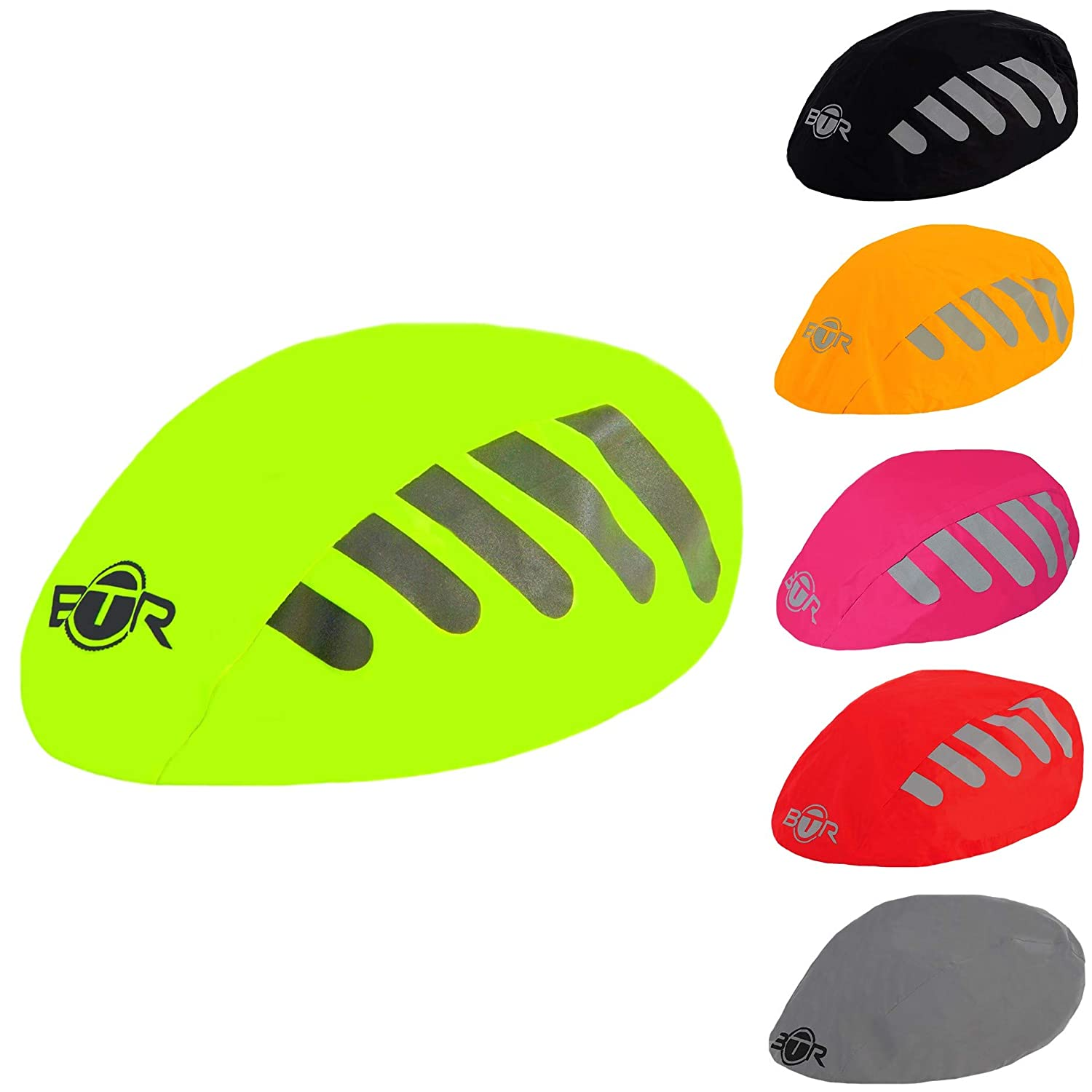 High Visibility Universal Size Bike Bicycle Waterproof Helmet Cover