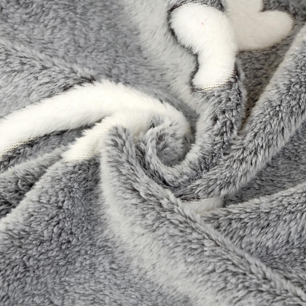 Pet Blanket Gray, 15.8 x 23.6 Transer Soft and Cute Blankets Fleece Fabric Flannel Warm Breathable Cushion Sleep Mat for Puppy Kitten Dog Cat