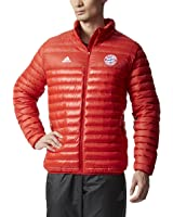 adidas Men's Bayern Munich Light Down Soccer Jacket (Red)