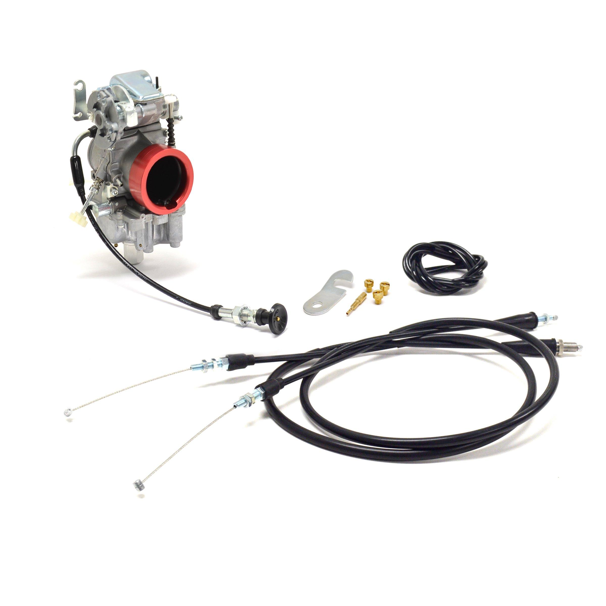 Honda XR400 R Mikuni TM36-68 Pumper Performance Carburetor Kit Remote Choke NCS240 by Niche Cycle Supply