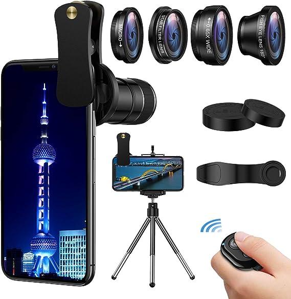 180/° Fisheye Lens 12x Telephoto Lens Samsung Smartphones /& Tablet Star Filter Lens Clip-On Lenses for iPhone 8 7 6s 6 Plus for iPhone Camera Lens 0.65x Wide Angle /& Macro Lenses