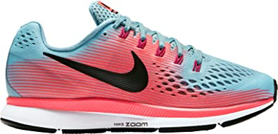 Nike Women's Air Zoom Pegasus 34 Running Shoe (Blue/Pink, ...