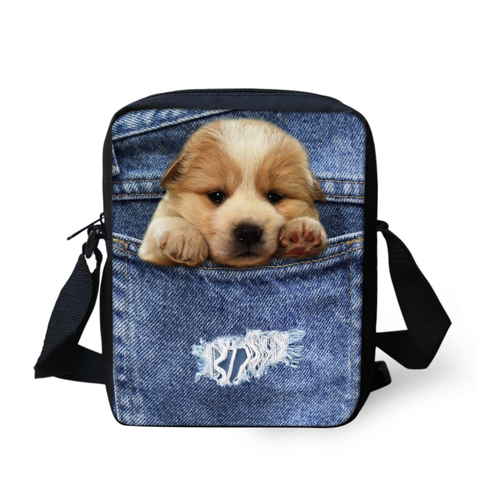 Showudesigns Lovely Dog Cross-body Bags for Woman Shoulder Bags with Adjustable Strap