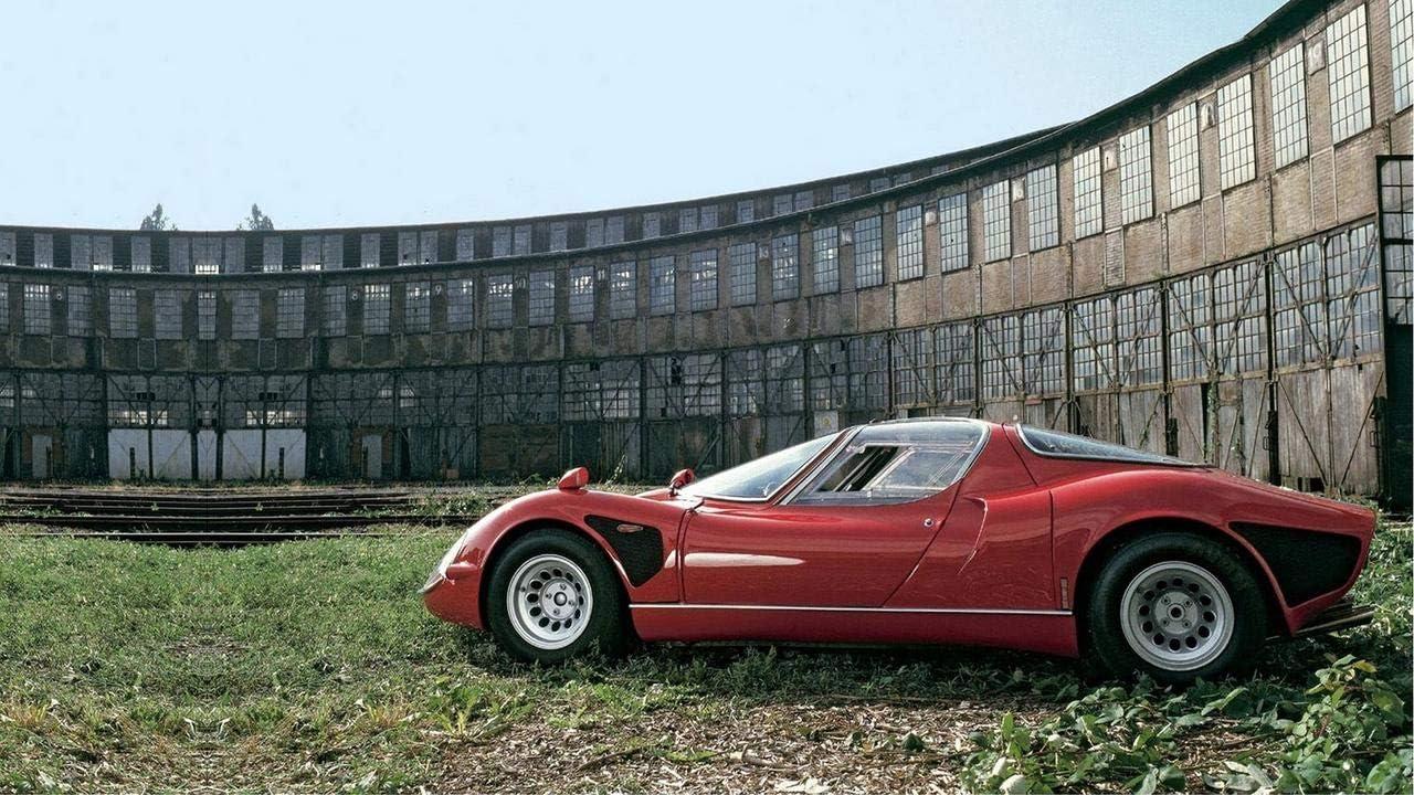 Lilarama USA 1968 Alfa Romeo Tipo 33 Stradale V3 - Canvas Art Print - Wall Art - Canvas Wrap