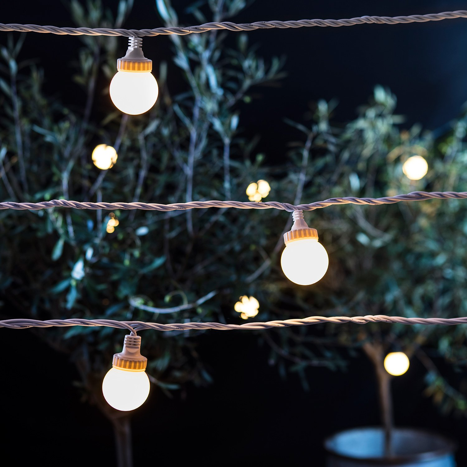 Outdoor Festoon Lights 100 warm white led outdoor connectable pro series festoon party 100 warm white led outdoor connectable pro series festoon party lights on white cable by lights4fun amazon garden outdoors workwithnaturefo