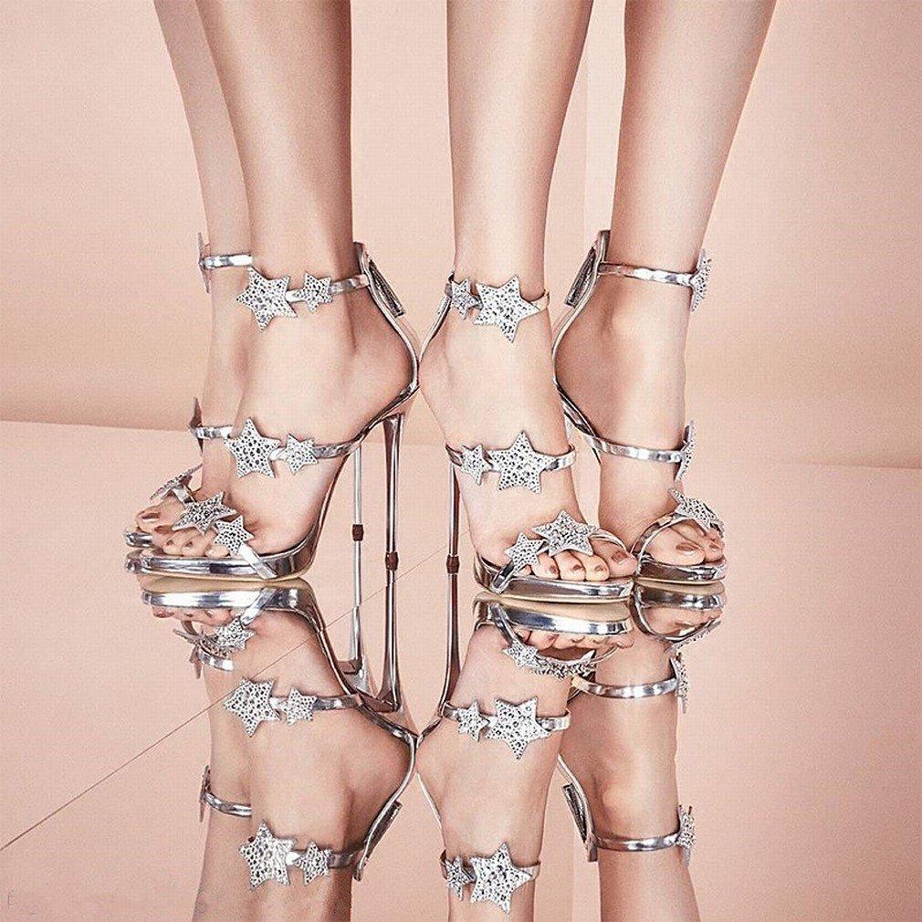 L Y Strass-Schuhe Hochhackige Strass-Schuhe Y mit Wasserdichten Damen-Sandalen 0c5b2a