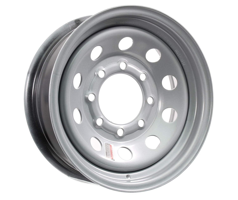On Center Silver HD Modular 8 Bolt Hole 6.5 in Trailer Wheel Rim 16x6 16 x6 in