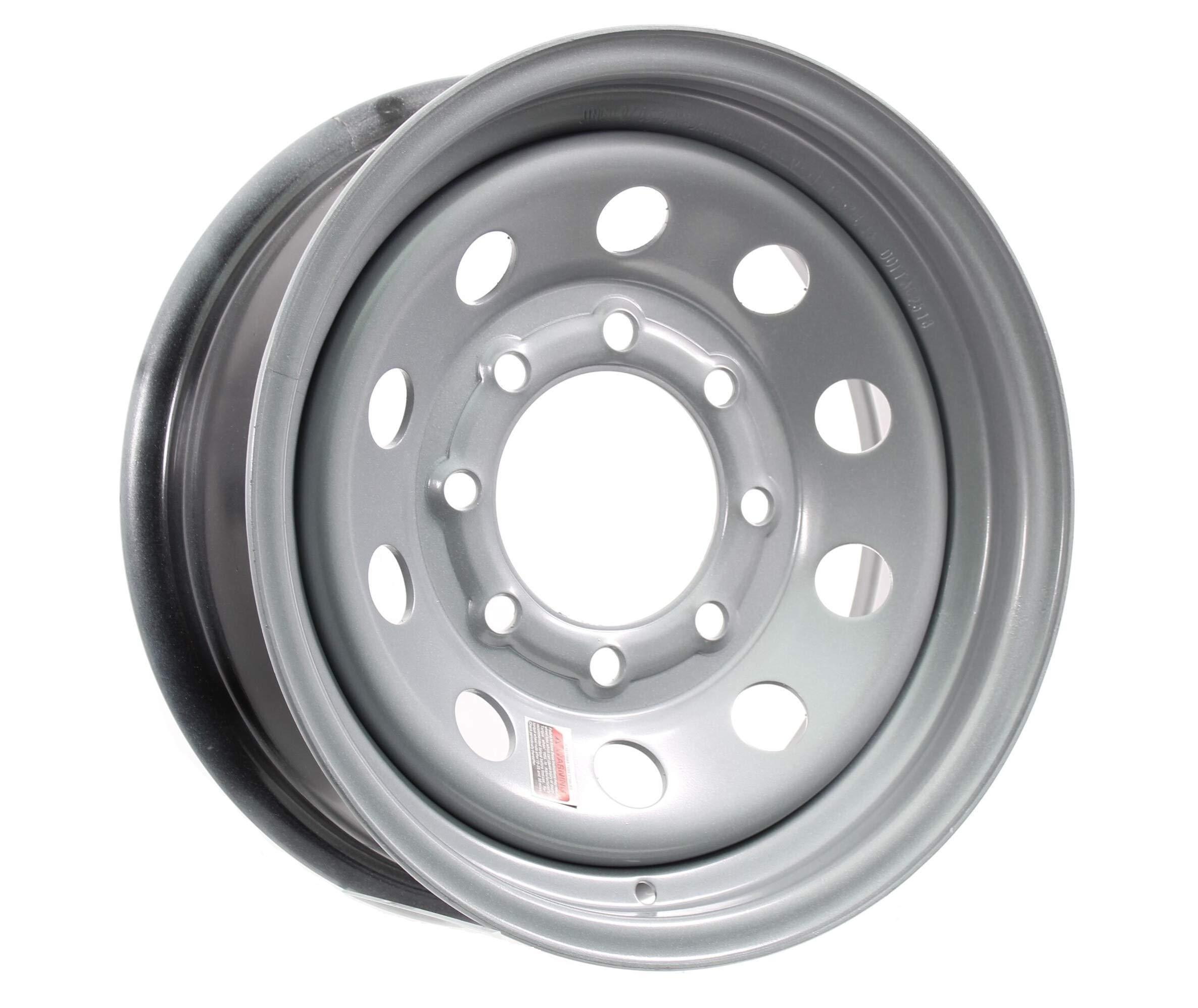 Equipment Trailer Rim Wheel 16 in. 16X6 8 Hole Bolt Lug Gray Grey Modular Holes by eCustomRim
