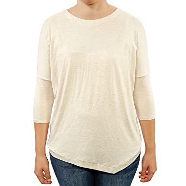 72871a0790d Philosophy Women Heathered Knit Asymmetrical Tops Loose Fit at Amazon  Women s Clothing store