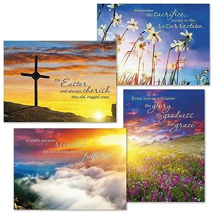 Amazon sunrise easter faith greeting cards set of 8 4 sunrise easter faith greeting cards set of 8 4 designs large 5quot m4hsunfo