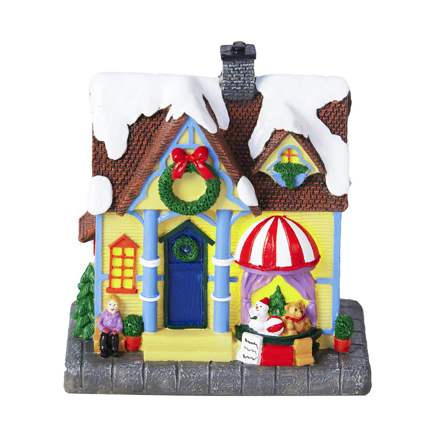 How To Store Christmas Village Houses.Amazon Com Innodept12 Store House Christmas Village With