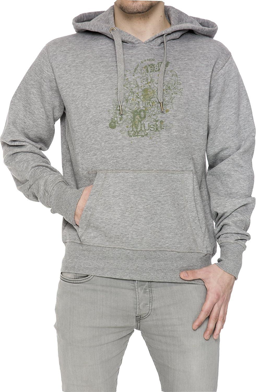 1980 Pomust Gris Algodón Hombress Sudadera Sudadera Con Capucha Pullover Grey Men's Sweatshirt Pullover Hoodie