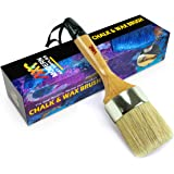 "chalked Paint Brush for Furniture Painting Large 2.5"" - Brushes Compatible with Annie Sloan Chalk Paints set, Heirloom Tradit"