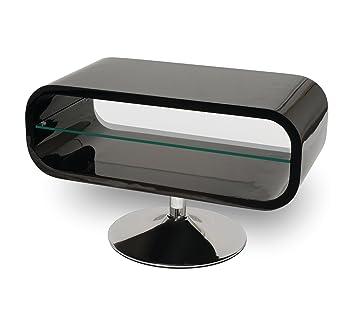 meuble tv design pivotant laquÉ noir: amazon.fr: cuisine & maison - Meuble Tv Pivotant Design