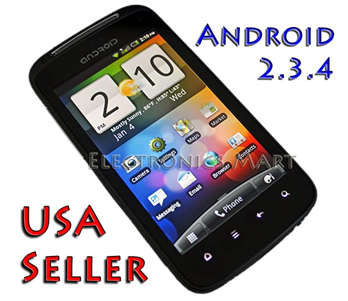 Amazon com: A3 Unlocked Prepaid Android Phone Rooted Jailbreaked 3G