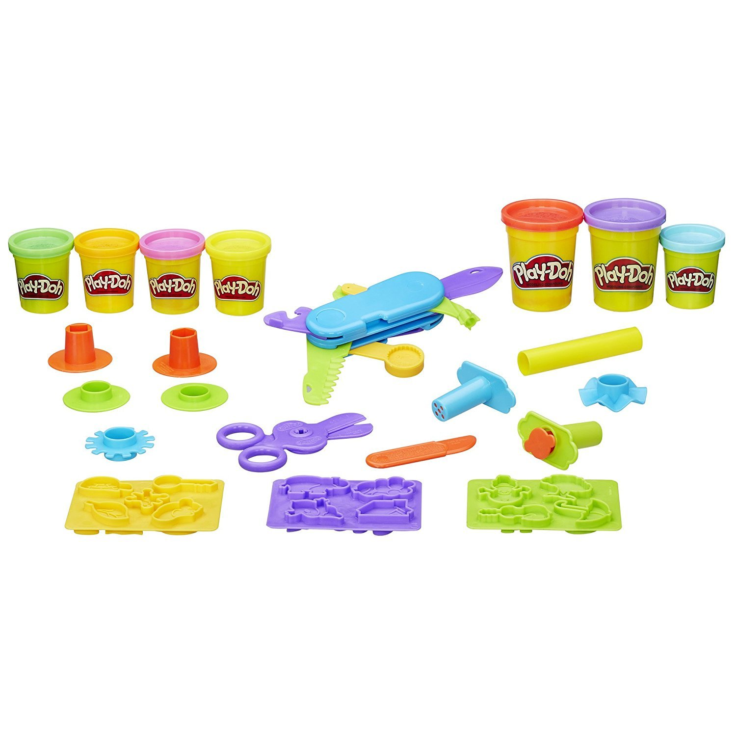 Play-Doh Toolin Around Playset Play-Doh Plus Compound Bundle PD