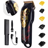 Cordless Hair Clippers,Professional Electric Hair Cutter Machine Kit Rechargeable Wireless Hair Grooming Trimmers Set for Men
