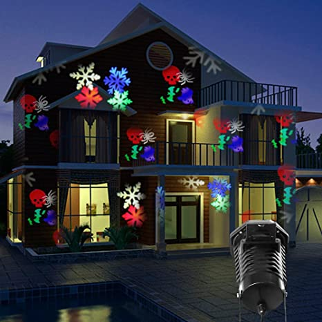 christmas projector lights led projection light kohree outdoor light snowflake spotlight 10 pattern sparkling landscape