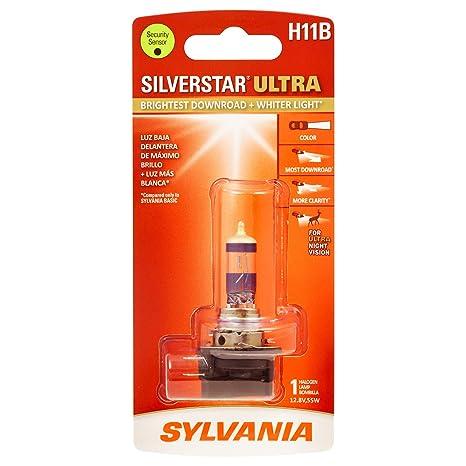 SYLVANIA - H11B SilverStar Ultra - High Performance Halogen Headlight Bulb, High Beam, Low