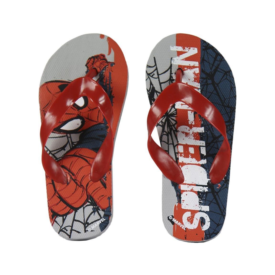 Gomma Bambino Marvel Spiderman 2300-2370 Sandali A Punta Aperta Infradito