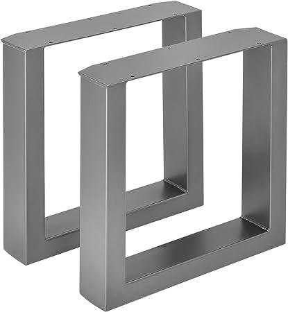 en.casa]®] 2 x Conjunto de Patas de Mesa Set de 2X Patas de Mesa -