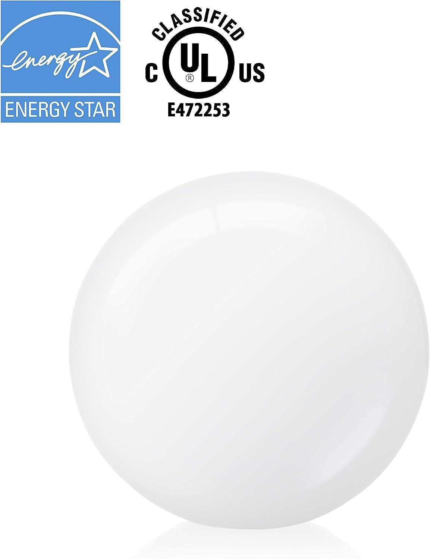 12W=100W Hyperikon A19 Dimmable LED Light Bulb UL CRI84+ GU24 Base 4 Pack Warm White