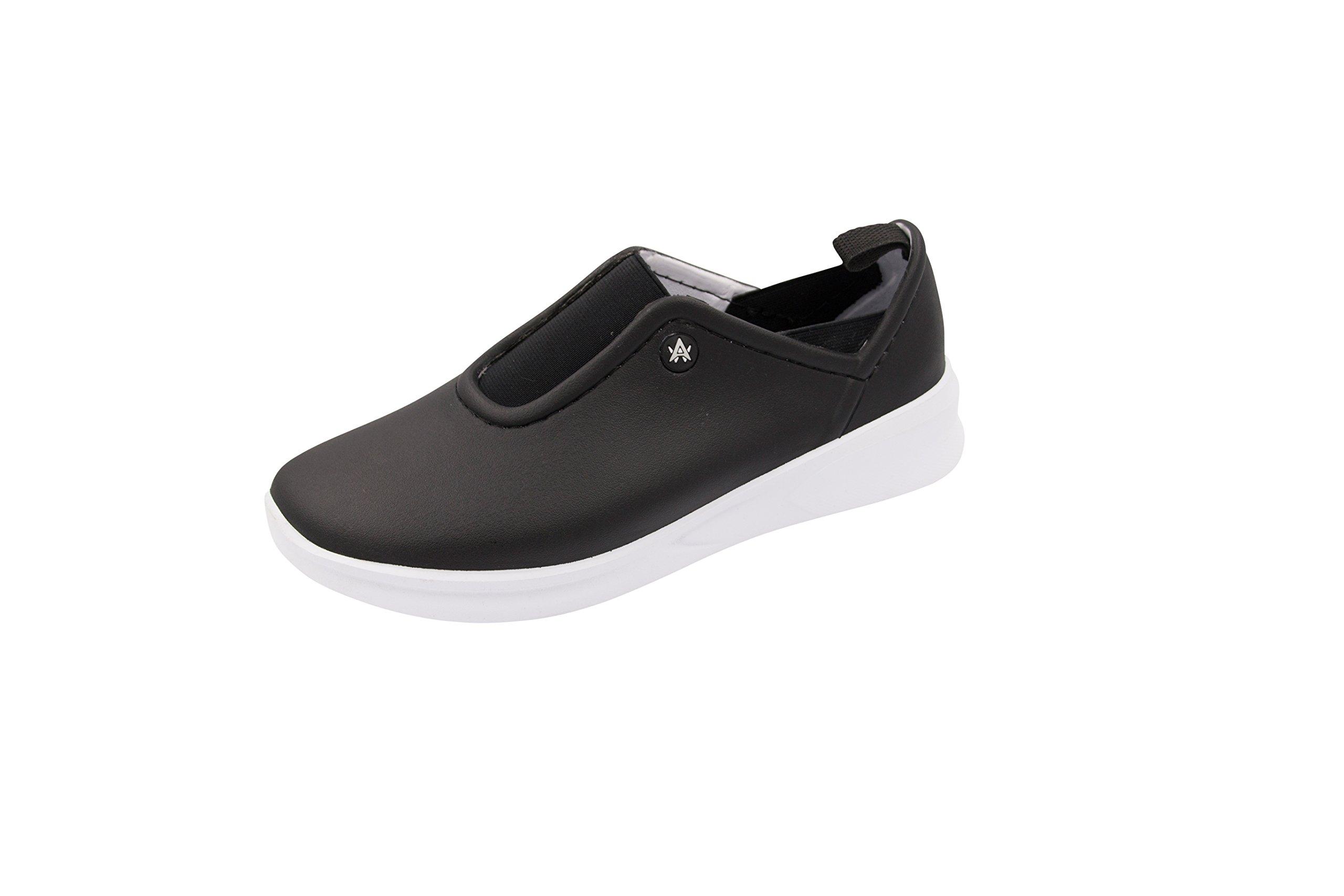 Anywear Women's Blaze Health Care Professional Shoe, Black/White, 8.0 Medium US