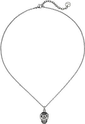 collier tete de mort swarovski femme