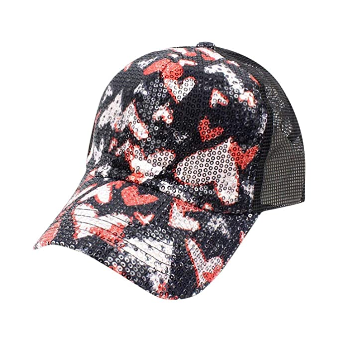 Amazon.com: Women Summer Heart Diamond Baseball Cap Snapback Caps Hip Hop Hats Vibrant hat Gorras para Hombre,A: Clothing