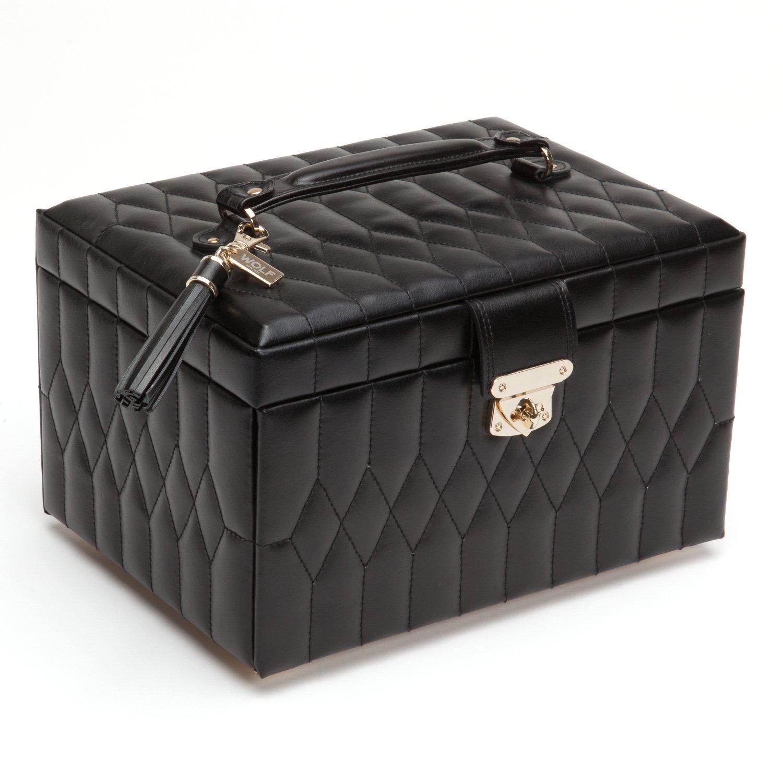 WOLF 329771 Caroline Medium Jewelry Case, Black