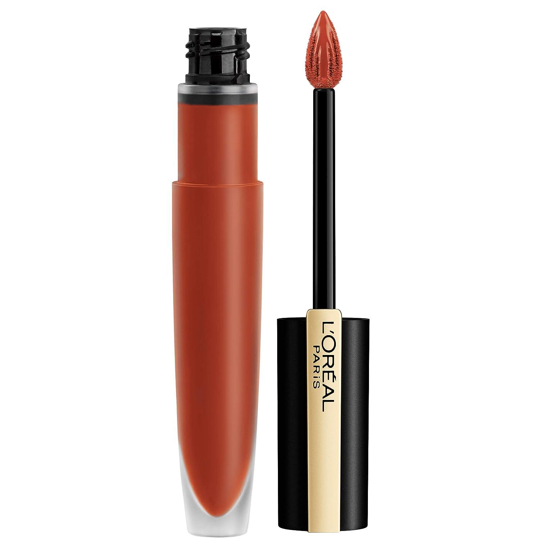 L'Oréal Paris Makeup Rouge Signature Parisian Sunset Collection, Lasting Matte Lip Stain, Ultra Lightweight & Comfortable, High Pigment, Precise Applicator Shapes & Lines Lips, I Amaze, 0.23 oz.